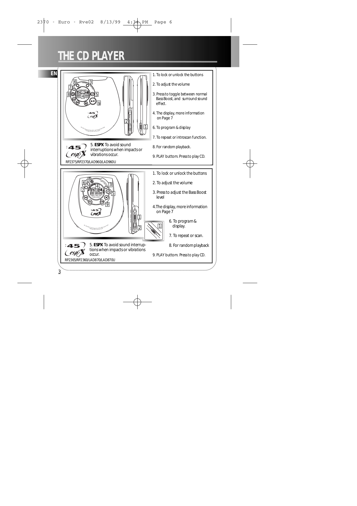 RCA CD Player RP2375 pdf page preview