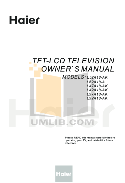 Haier tv owners manual