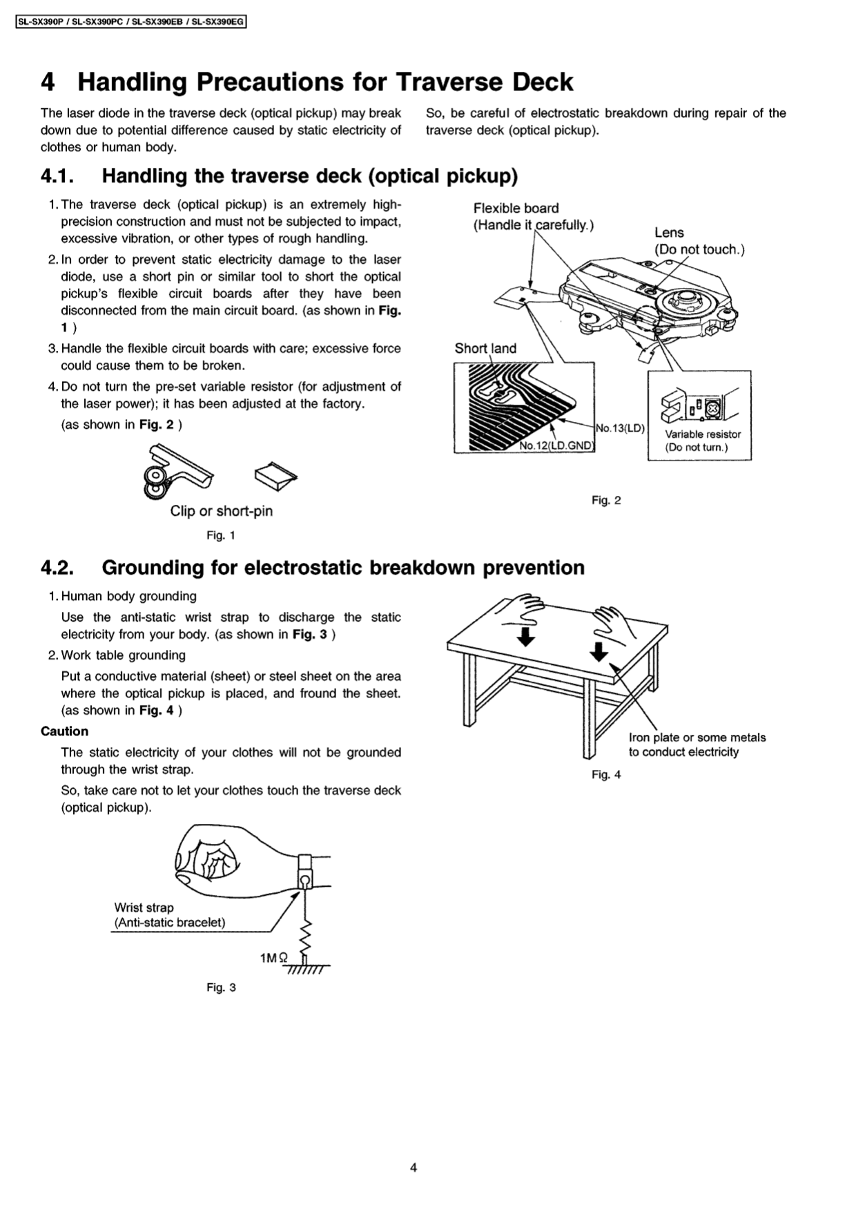 PDF manual for Panasonic CD Player SL-SX390