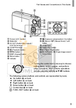 Canon Digital Camera Powershot SX260HS pdf page preview