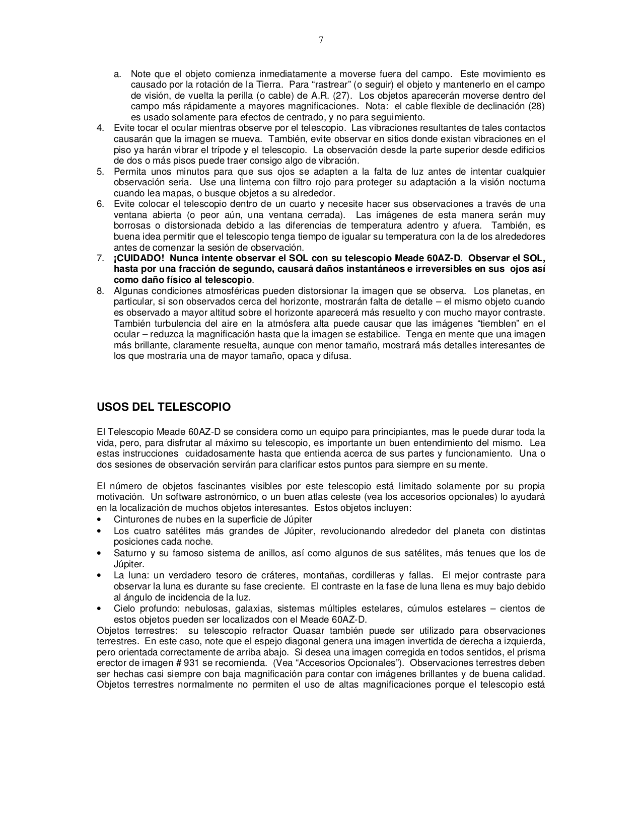 polaris by meade telescope manual