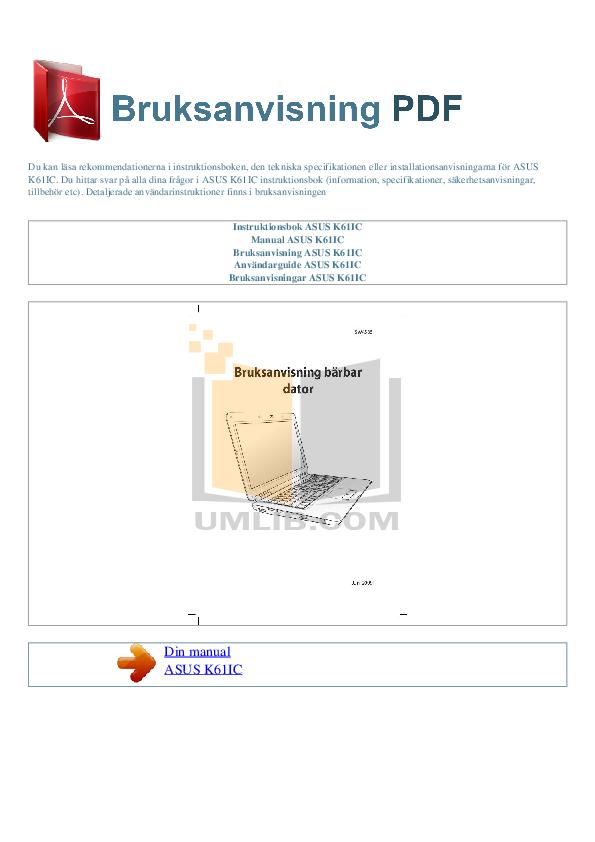 download free pdf for asus k61ic laptop manual