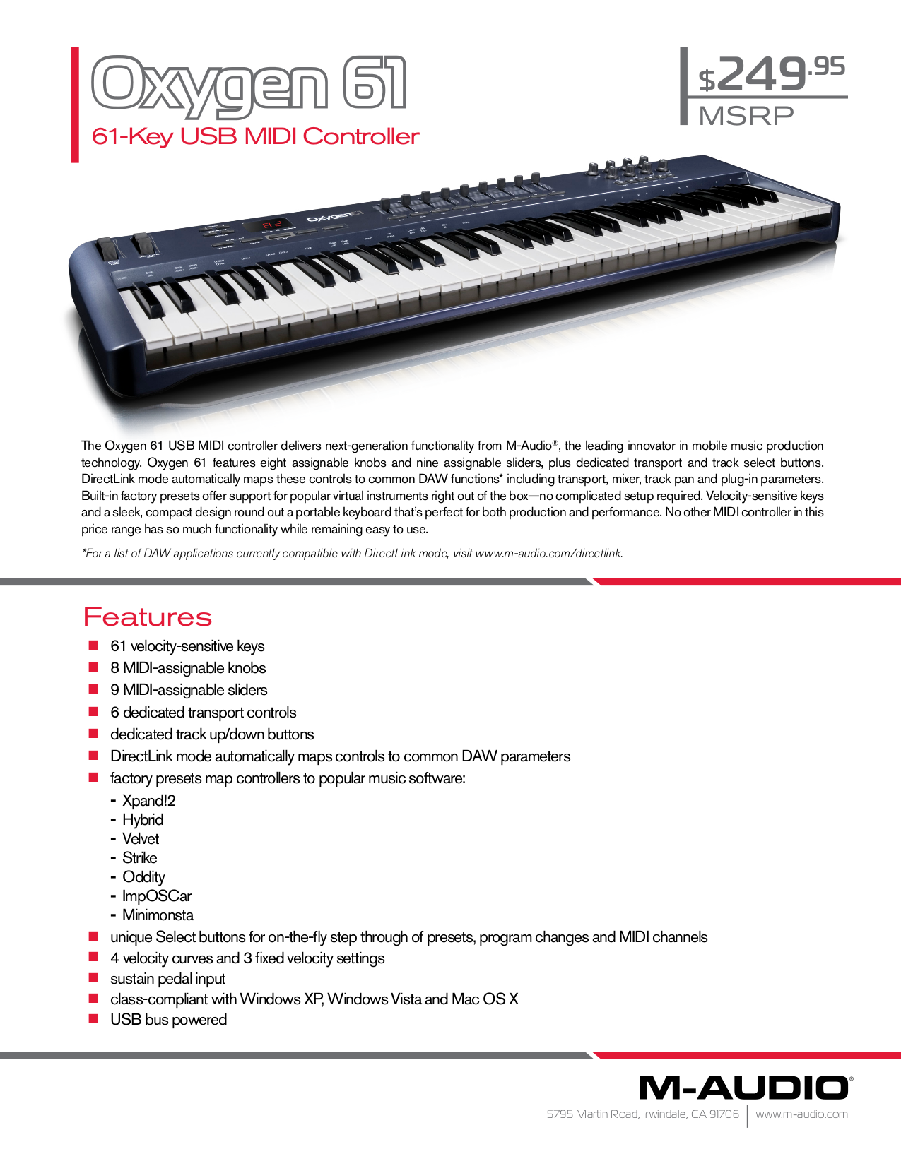 download free pdf for m audio oxygen 61 music keyboard manual rh umlib com m audio venom manuel m audio manuel