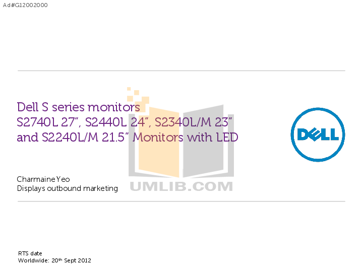 pdf for Dell Monitor ST2420L manual