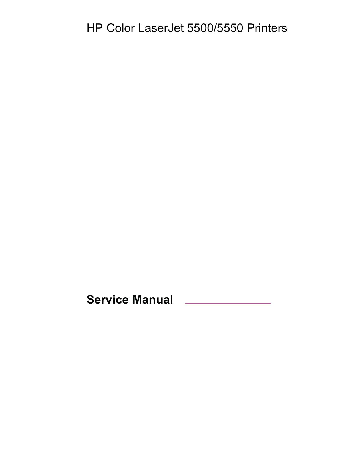 ... HP Printer Laserjet,Color Laserjet 5550dtn pdf page preview ...