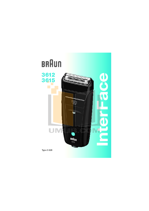 pdf for Braun Other InterFace 3612 Shavers manual