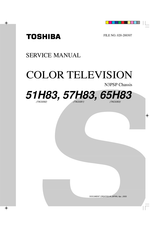 """download free pdf for toshiba 51h83 tv manual rh umlib com Toshiba 55"""" LCD Toshiba 65H83"""