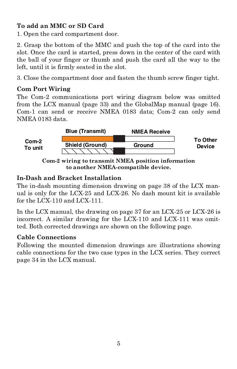 Pdf Manual For Lowrance Gps Globalmap 7500c Wiring Diagram Page Preview