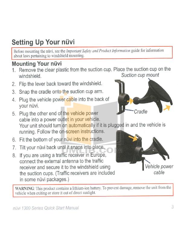 garmin nuvi 1300 manual pdf
