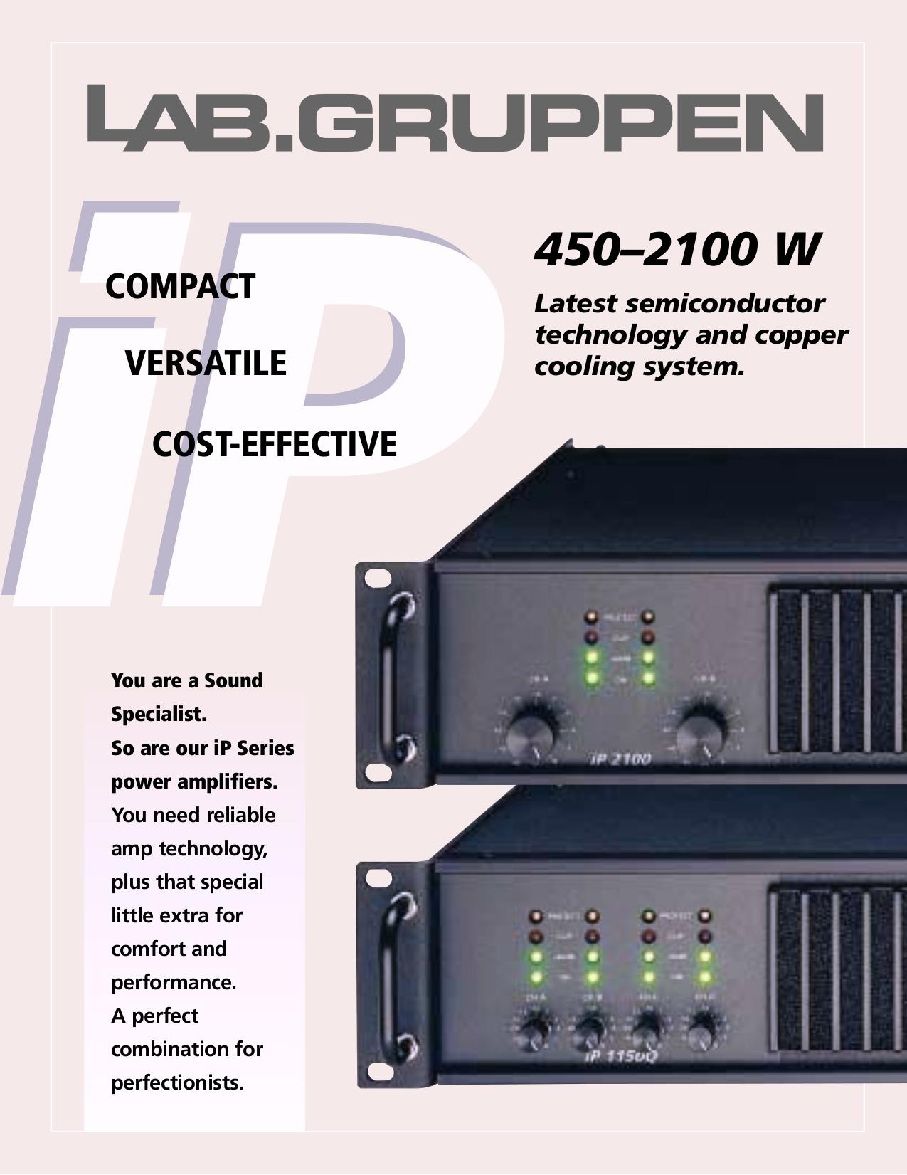 pdf for Lab.gruppen Amp fP Series FP 1150Q manual