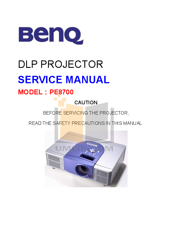 pdf for Benq Projector DX660 manual
