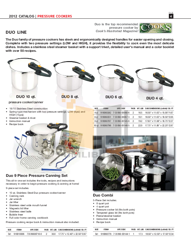 PDF manual for Fagor Other uCook Cookers