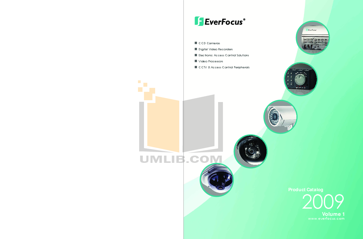 pdf for EverFocus Security Camera EZ550 manual