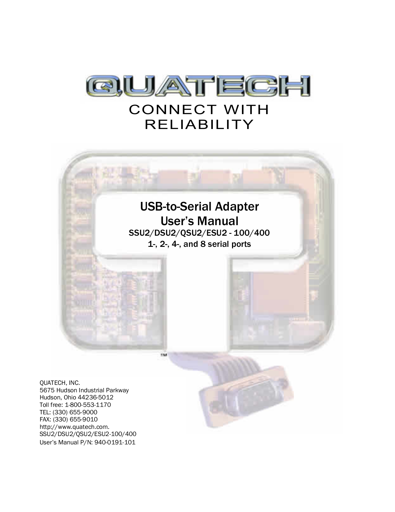 pdf for Quatech Other DSU2-100 Adapters manual