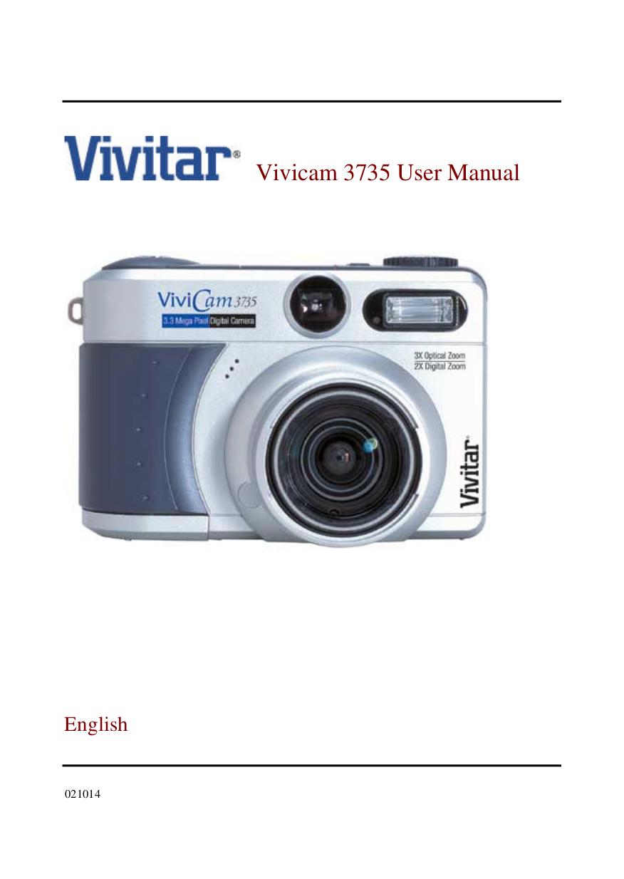 pdf for Vivitar Digital Camera Vivicam 10 manual