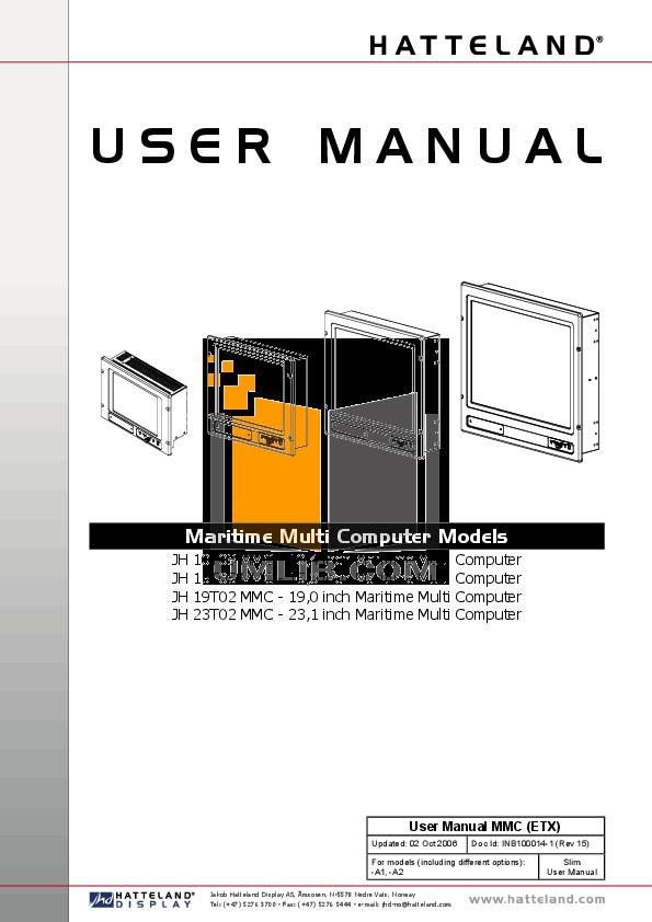 pdf for Eaw Speaker System JH15 manual