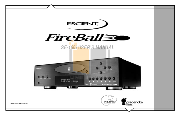 pdf for Escient Remote Control Fireball Taurus manual