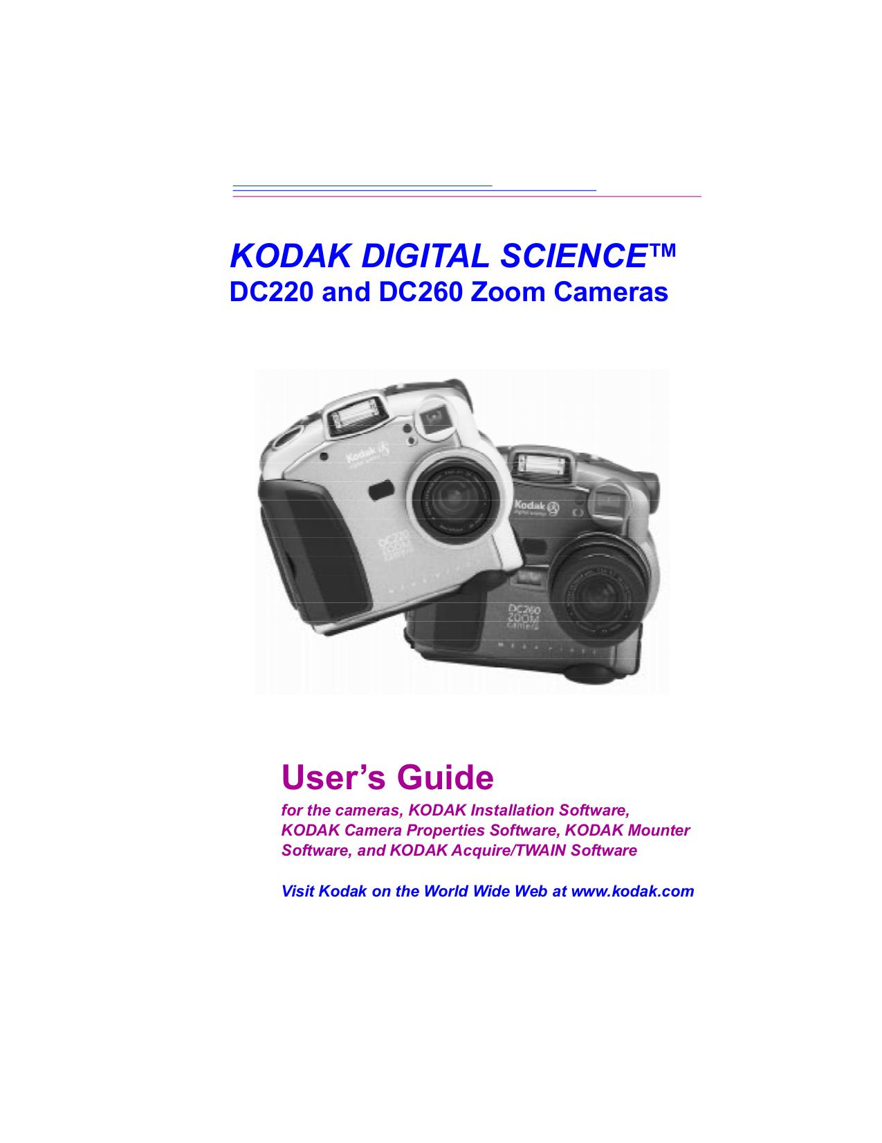 pdf for Kodak Digital Camera DC220 manual