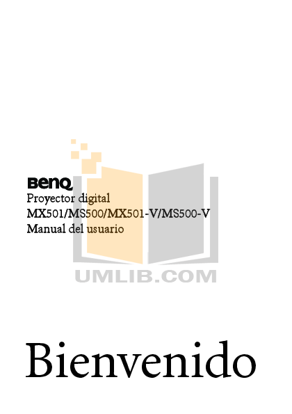 pdf for Benq Projector MS500 manual