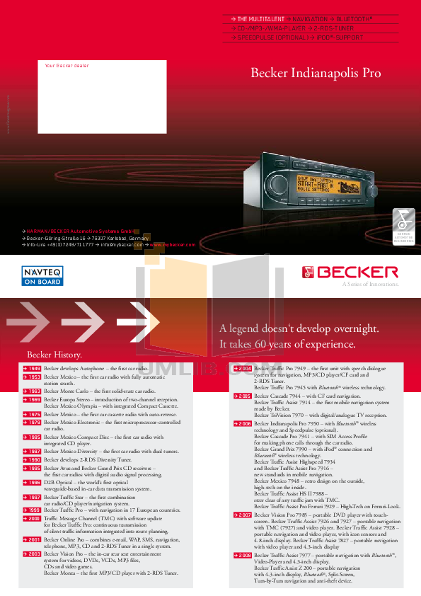 pdf for Becker GPS 7927 manual