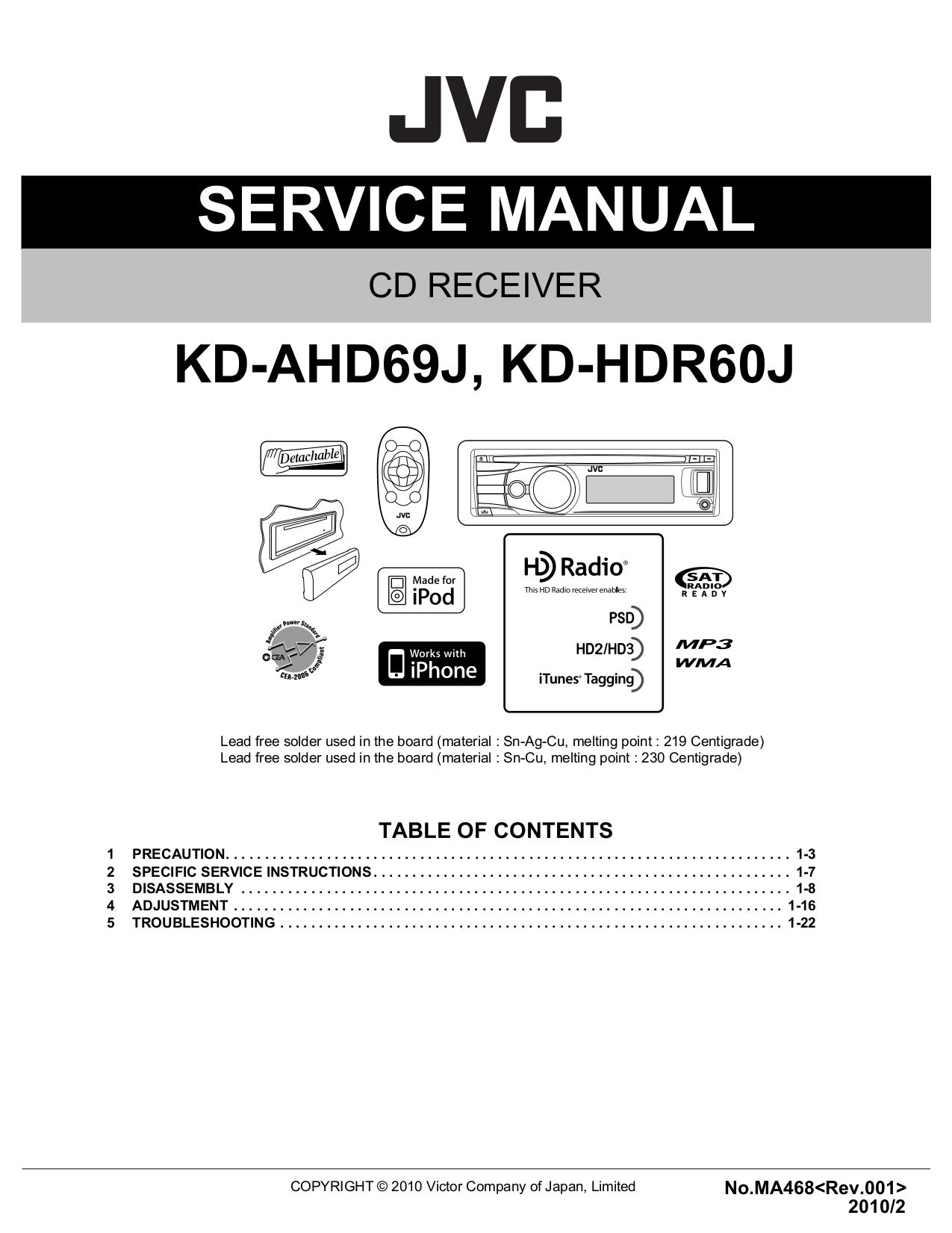 download free pdf for jvc kd s51 car receiver manual rh umlib com JVC Schematics JVC Home Audio