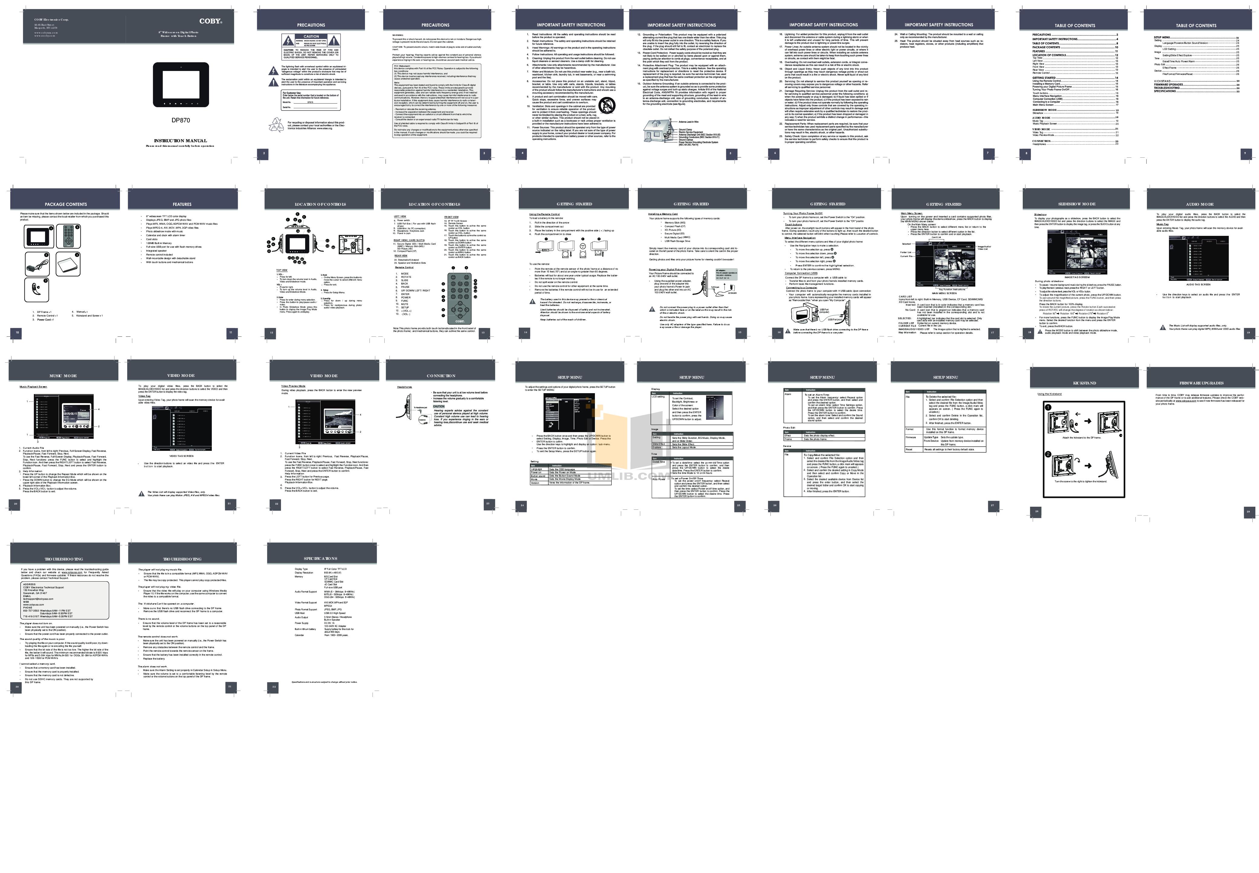 download free pdf for coby dp870 digital photo frame manual rh umlib com Clip Art User Guide User Training