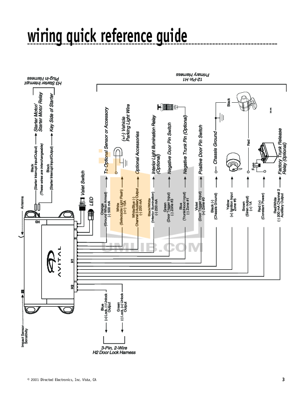 Avital 2101l Wiring Diagram Avital 2101 Keyless Entry