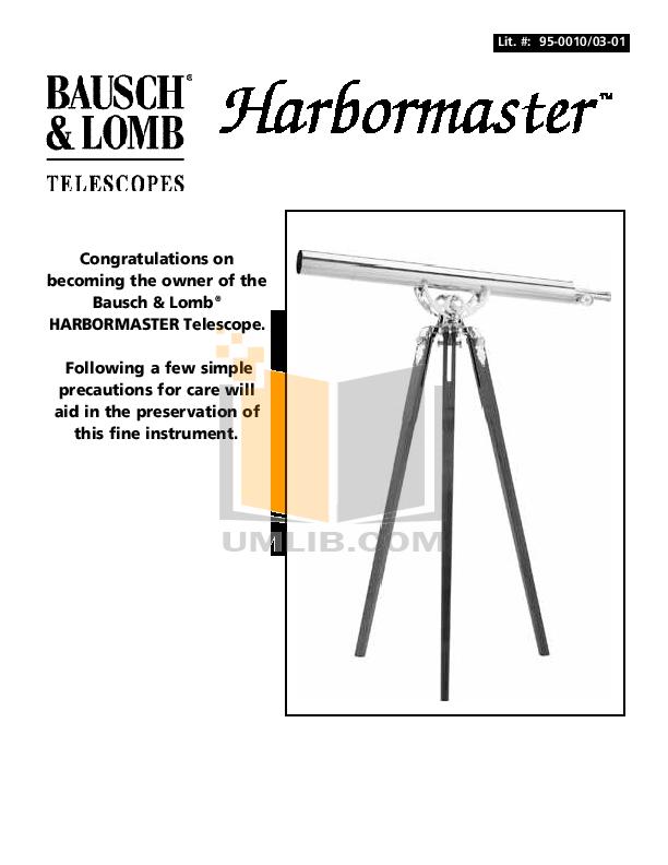 pdf for Bushnell Telescope Harbormaster 68-3576 manual