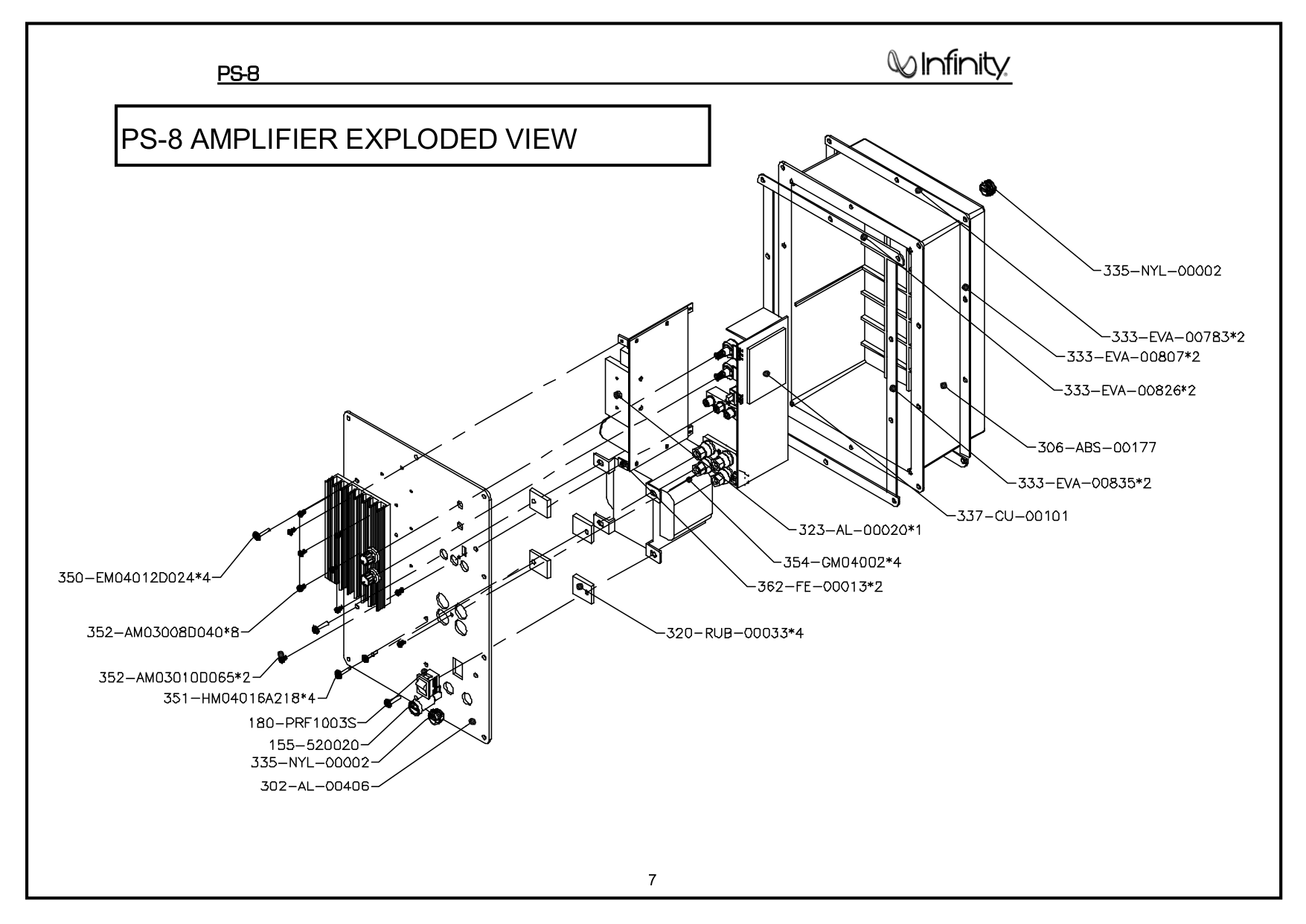 pdf manual for infinity subwoofer ps 10