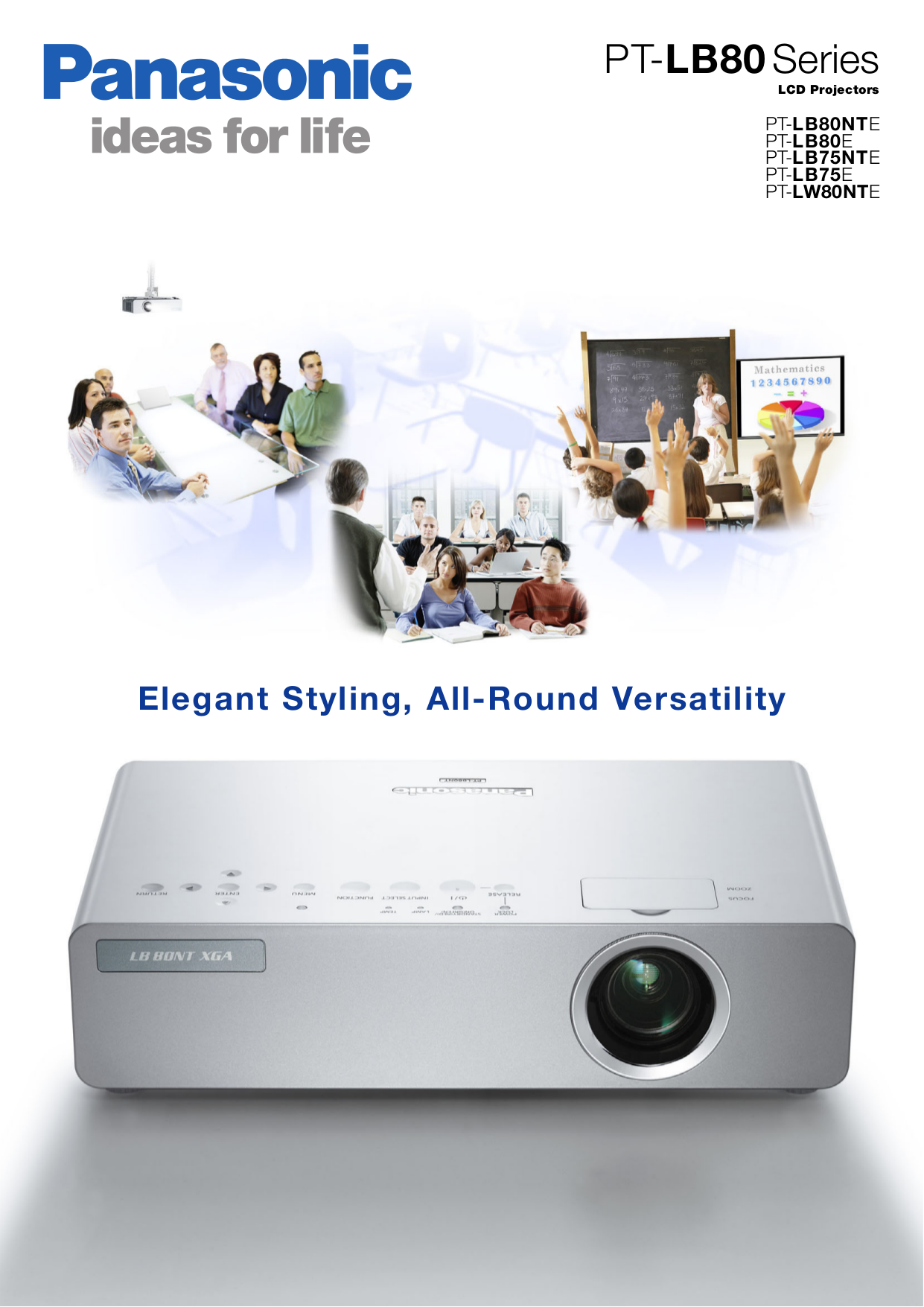 pdf for Panasonic Projector PT-LW80NTE manual