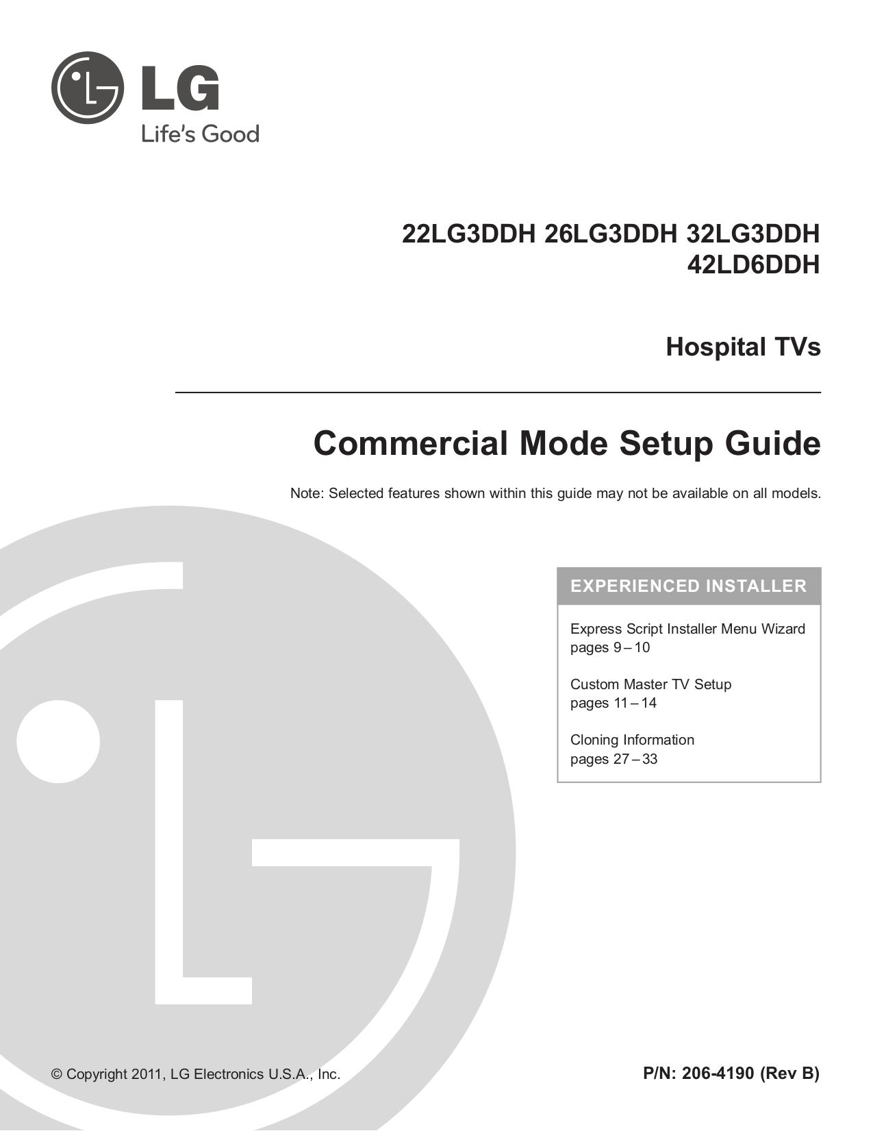 pdf for LG TV 26LG3DDH manual