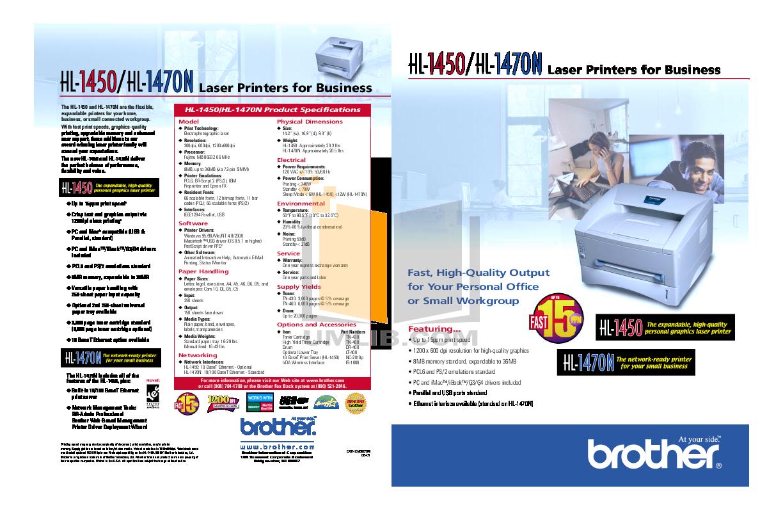 pdf for Brother Printer HL-1470N manual