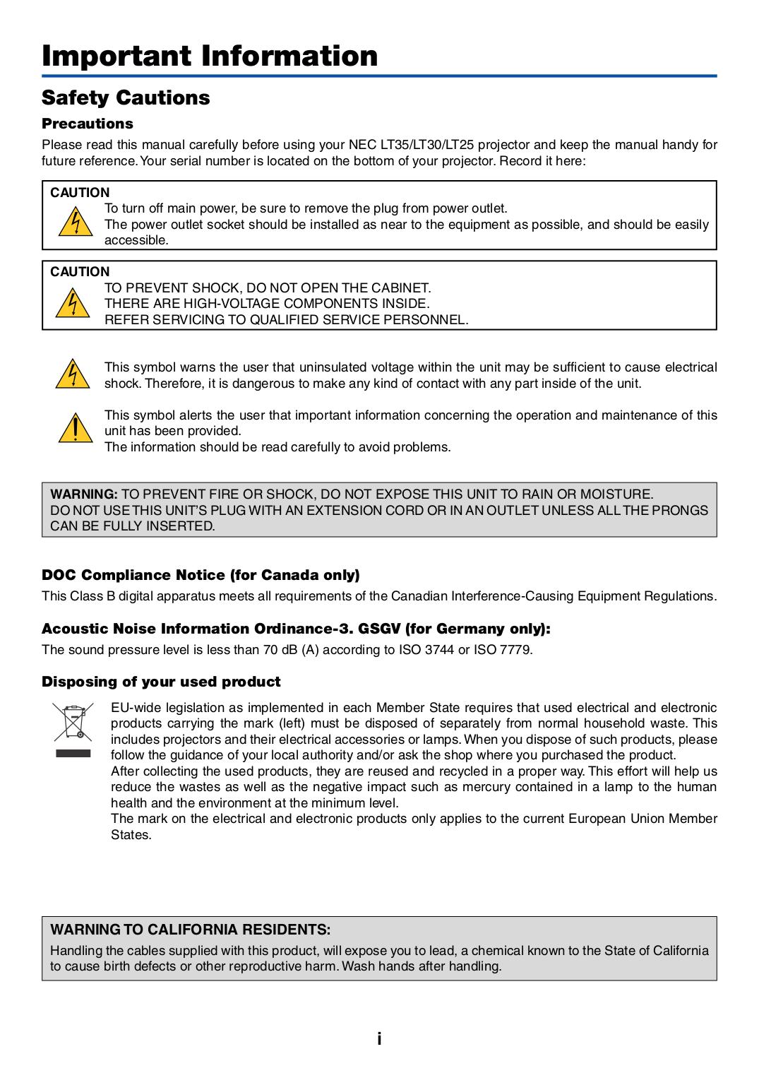 pdf manual for nec projector lt25 rh umlib com Volkswagen Crafter Volkswagen LT 35