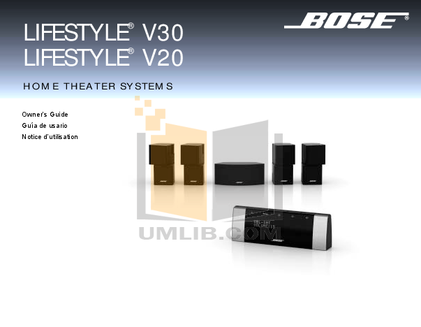download free pdf for bose lifestyle v20 home theater manual rh umlib com Bose V20 Connections Bose V20 Manual