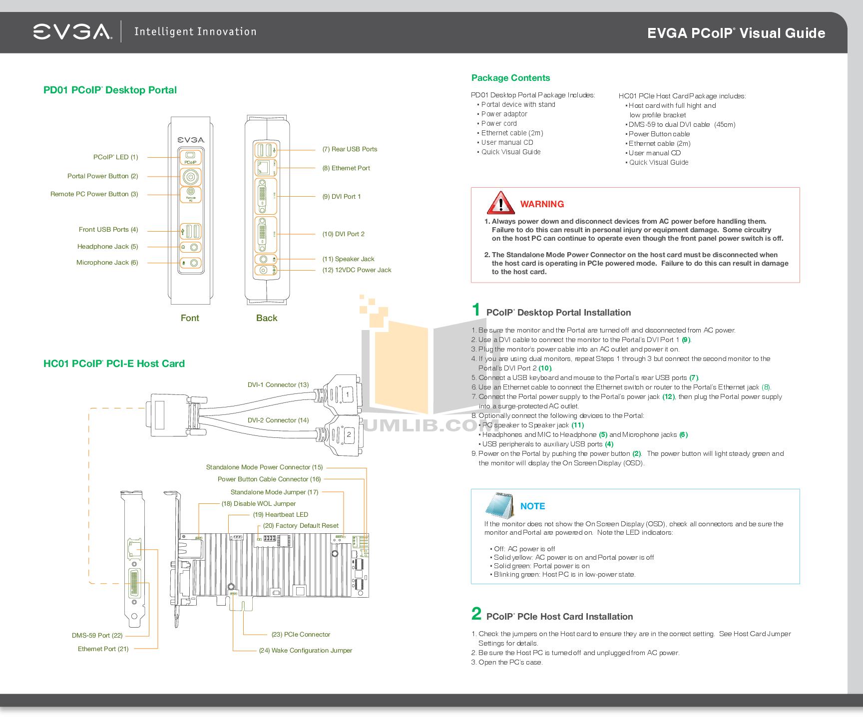 pdf for Evga Desktop PD01 manual