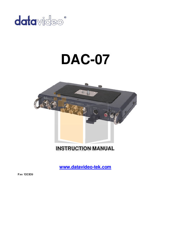 pdf for Datavideo Other SE-1000 Switcher manual