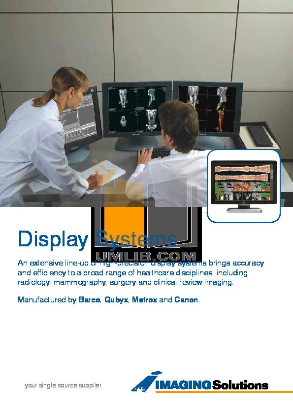 pdf for Barco Monitor Nio Color 3MP manual