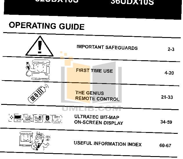 pdf for Hitachi TV 36UDX10S manual
