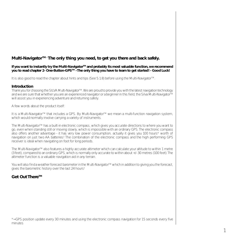Silva Gps Multi Navigator Pdf Page Preview
