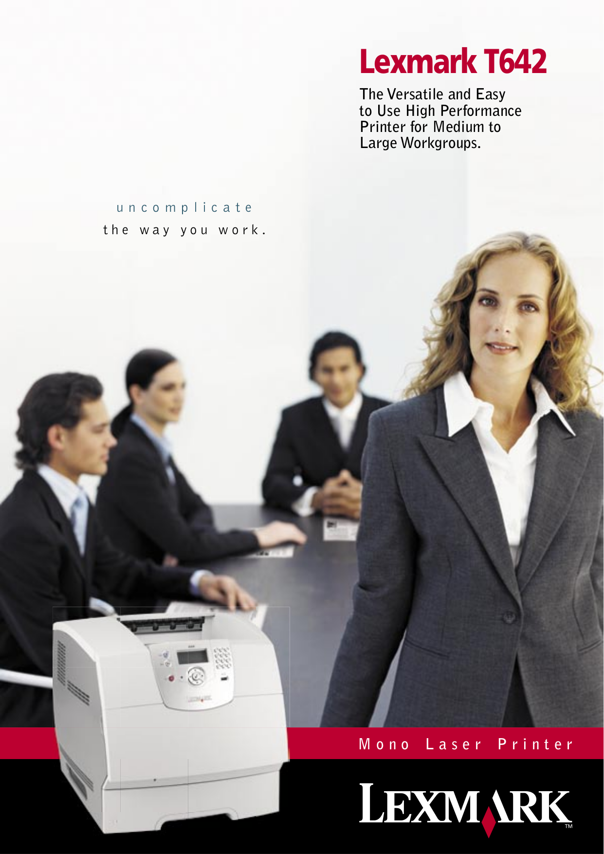 pdf for Lexmark Printer T642 manual
