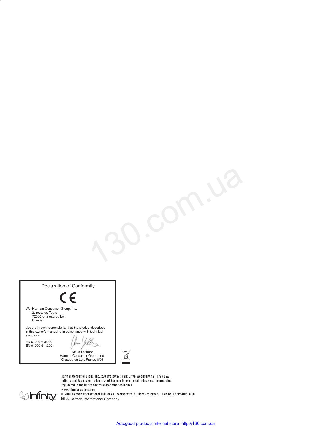 pdf manual for infinity car amplifier kappa series kappa one rh umlib com Clip Art User Guide Kindle Fire User Guide