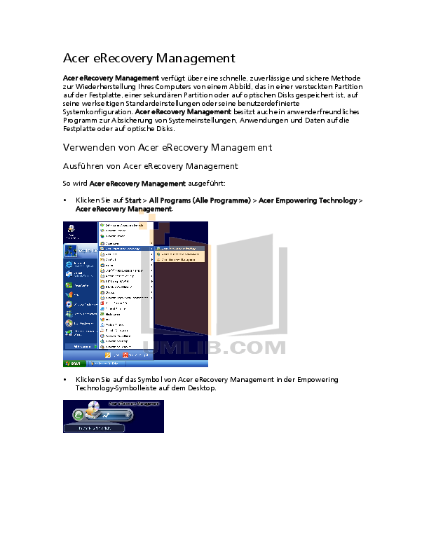 pdf for Acer Desktop Aspire M1641 manual