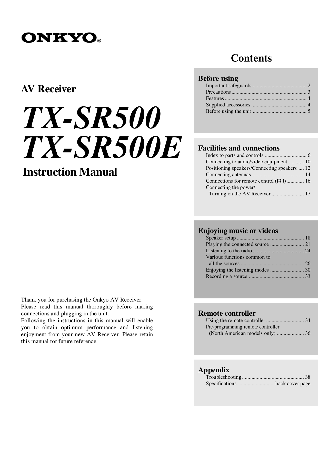 Yamaha Tx500 Manual Download