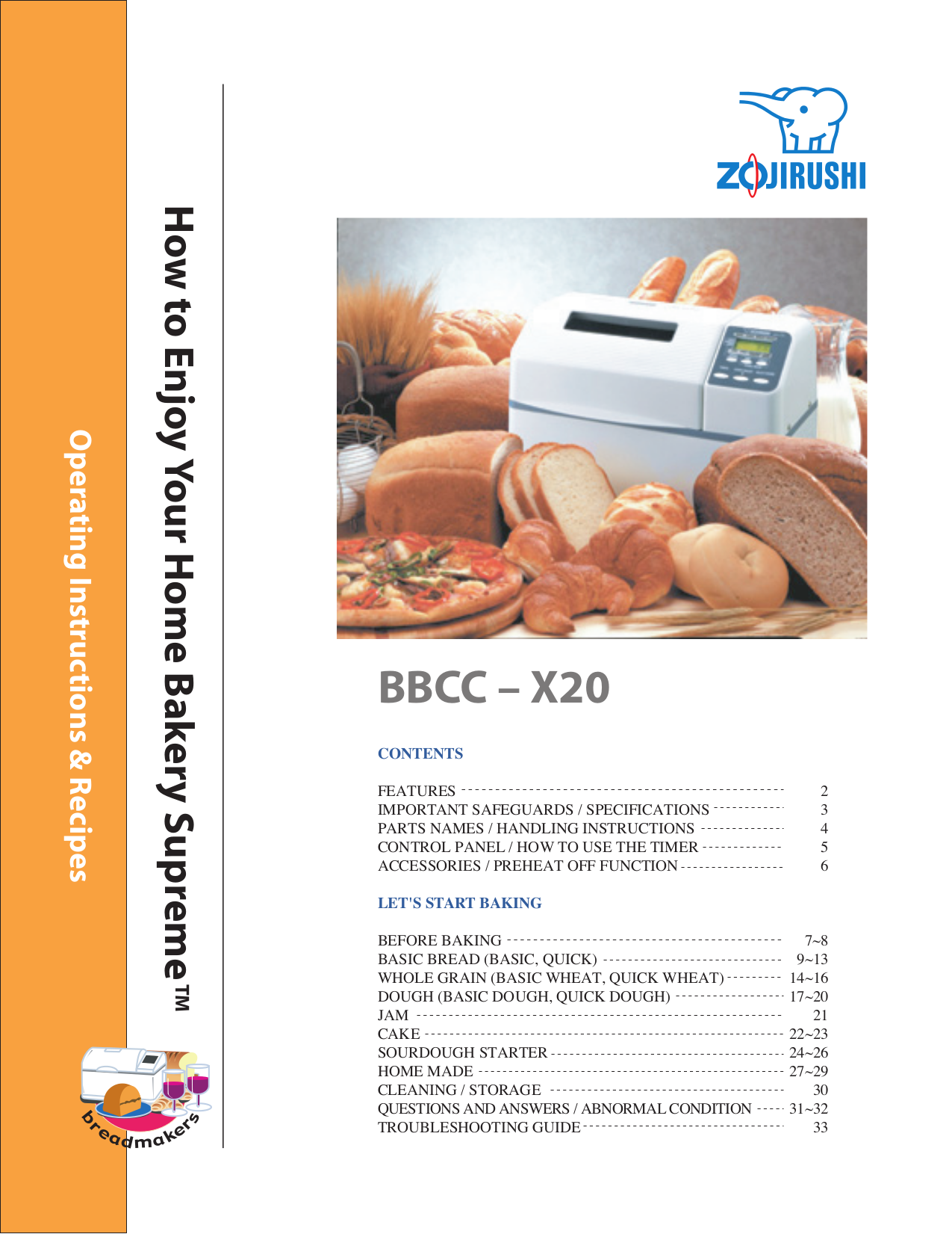 bread troubleshooting guide – 3 – operation and care of bbs series bread slicers save these instructions general baxter bread slicers come in models with manual or automatic operation.