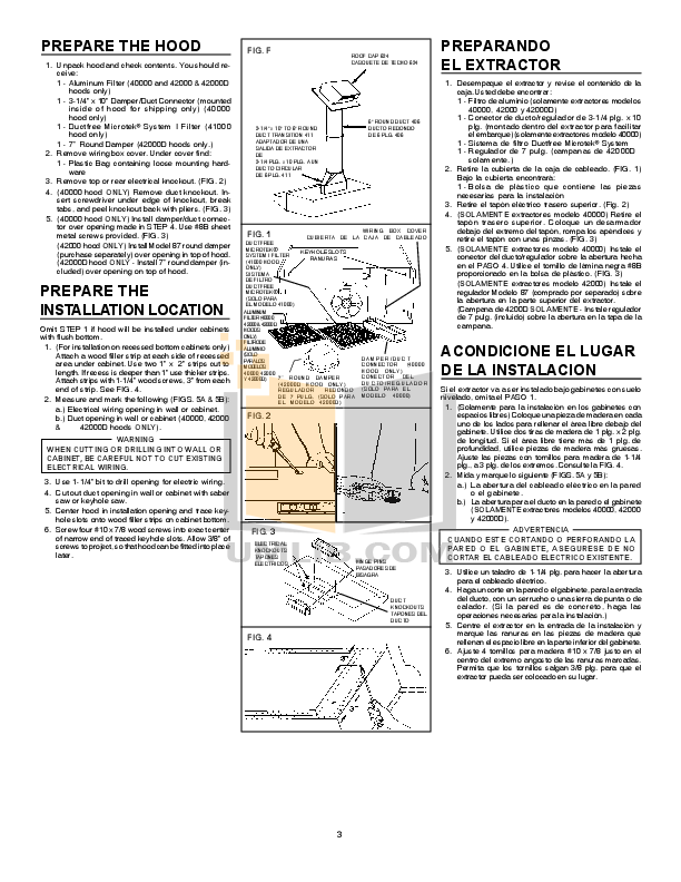 broan 423001 installation instructions.pdf 2 wat broan 42000 range hood wiring diagram wiring diagrams  at edmiracle.co