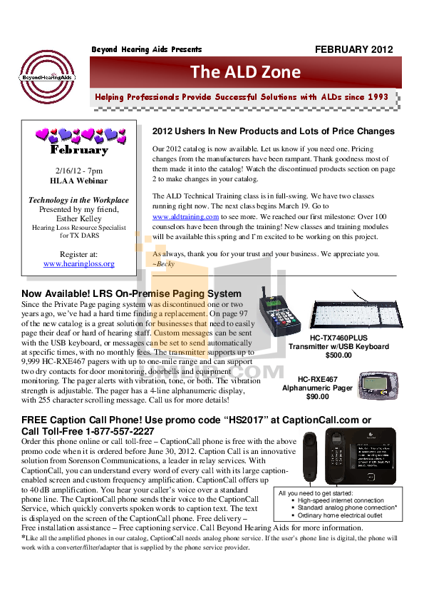 pdf for Clarity Telephone C4220 manual