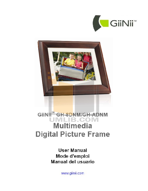 Download free pdf for GiiNii GH-8DNM Digital Photo Frame manual
