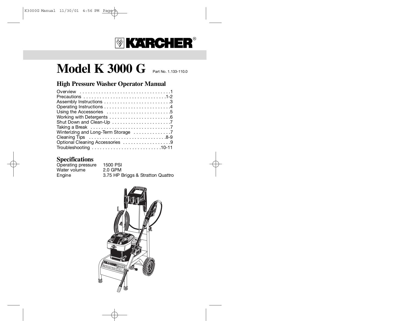 G Force Pressure Cleaner Manual