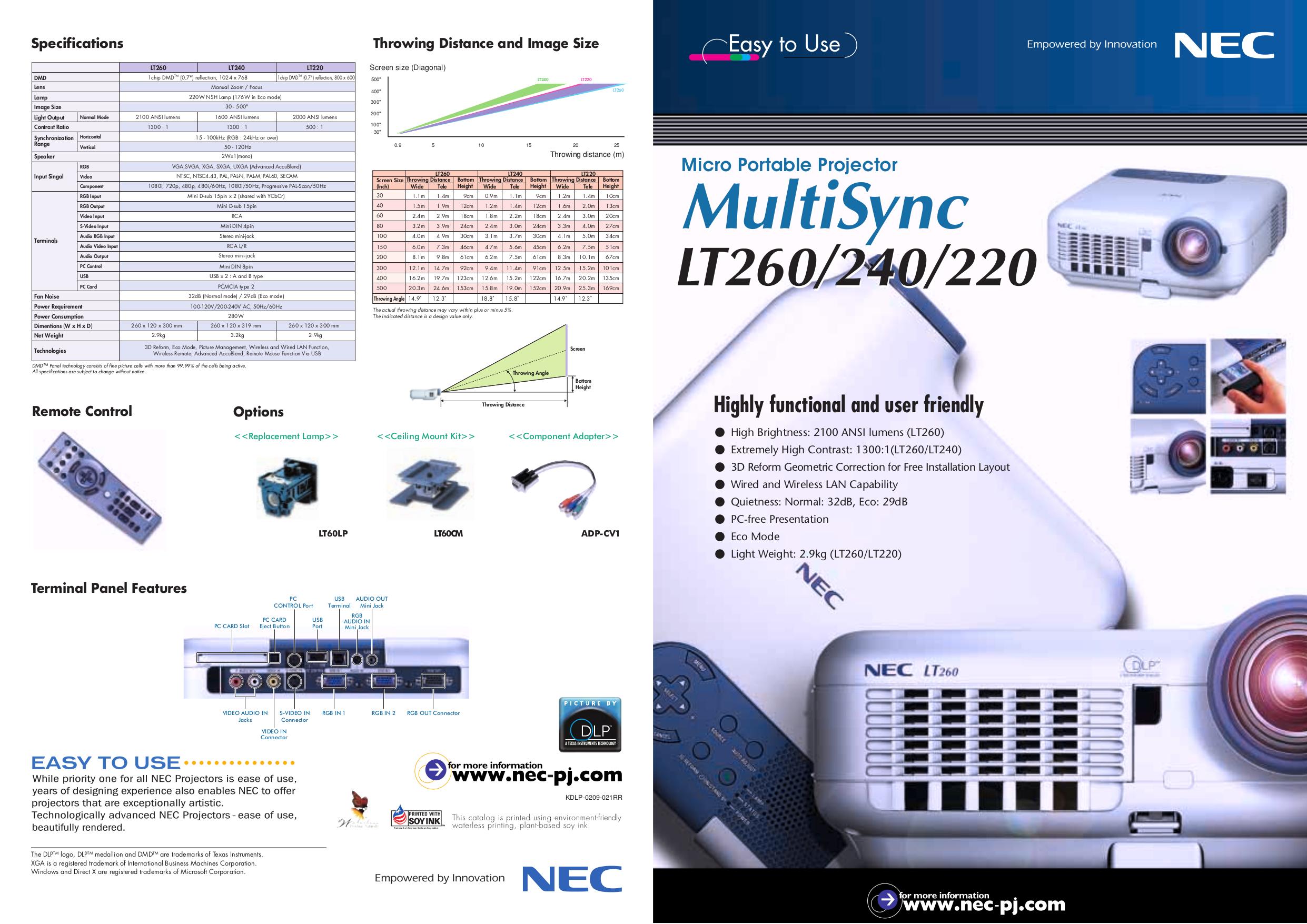 download free pdf for nec lt260 projector manual rh umlib com NEC VT 47 Projector Manual nec lt265 projector manual