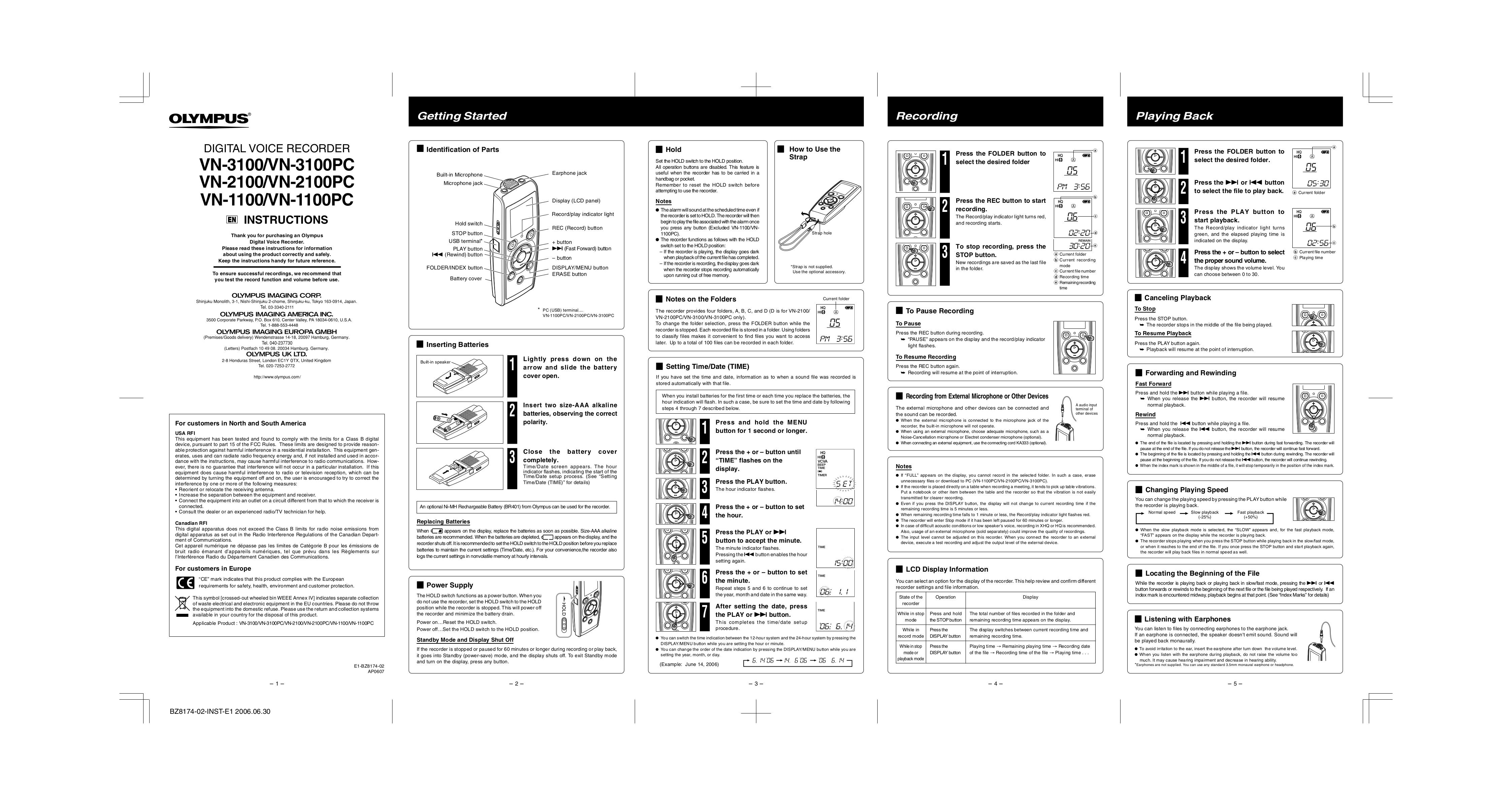 download free pdf for olympus vn3100pc voice recorder manual rh umlib com olympus vn-3100pc mode d'emploi olympus digital voice recorder vn-3100 manual